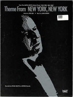 Theme From NEW YORK, NEW YORK Sheet Music Book Piano Vocal Guitar Chord Sinatra