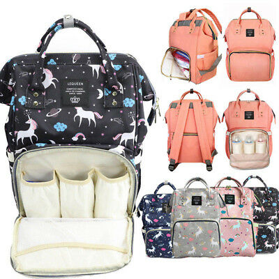 LEQUEEN Multifunctional Baby Diaper Nappy Backpack Maternity Large Capacity Bag