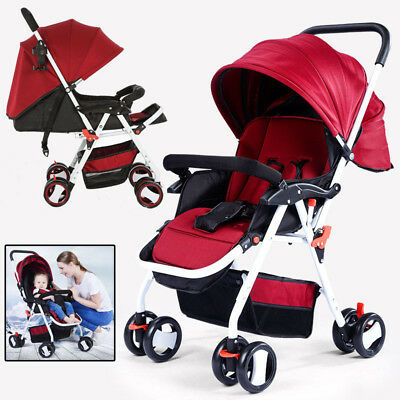 Newborn Carriage Infant Foldable Pram Baby Travel Bassinet Stroller Pushchair
