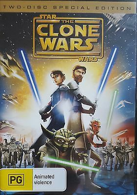 Star Wars Animated Clone Wars Movie Rare Deleted Double Disc Edition Cartoon Dvd