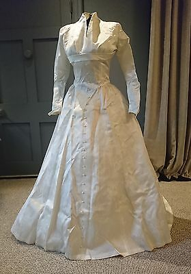 Elegant and Sculptural True Vintage 1950s Wedding Dress By ' Hussey '