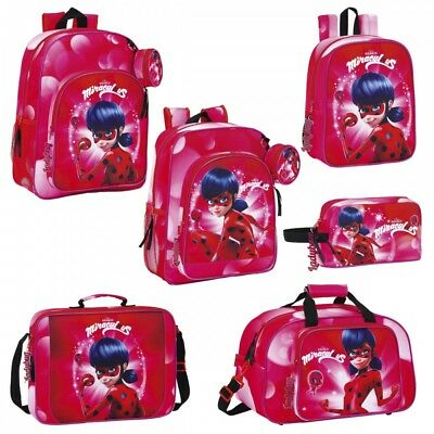 Miraculous Ladybug Backpack Rucksack Travel Sports School Lunch Bag Marinette