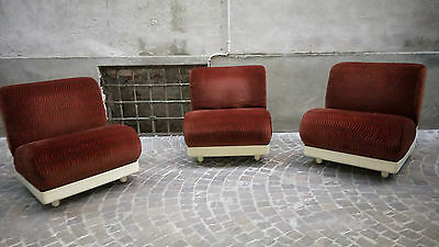 Poltrone FG 2008 Design seventies anni 70 Vintage Low Chairs