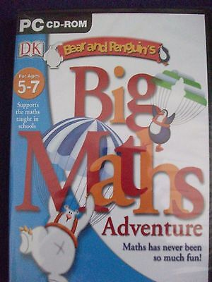 Dorling Kindersley PC CD-Rom, Bear and Penguin's Big Maths Adventure, Ages 5-7