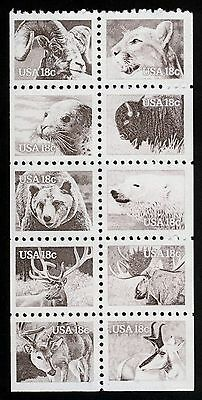 #1889a 18c American Wildlife, Se-Tenant Block, Mint **ANY 4=FREE SHIPPING**