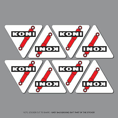 SKU2576 - Set of 8 Koni Stickers Decals - Car - Motorcycle - Bike
