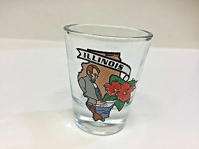 Illinois State Abe Lincoln Shot Glasses NEW