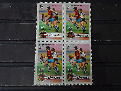 Bloc 4 timbres neuf Grenada : CM Football Allemagne 1974 : RFA-Chili