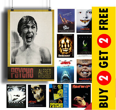 Horror Movie POSTER OPTIONS A3 A4 WALL ART Photo Print Film Cinema Home Decor