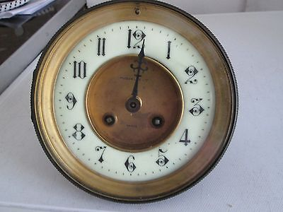 Antique french chiming clock mechanism with movement and face and glass 4236 48