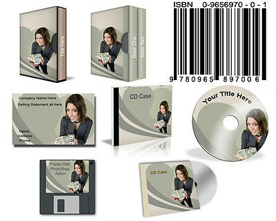 Create Your Own E-Covers with these Photoshop Actions on CD!