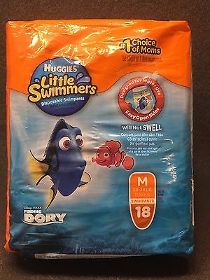 Huggies Little Swimmers Disposable Diaper Swimpants Medium 18 Count Finding Dory