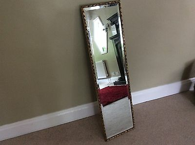 Wall mirror long circa 1980s 33 x 12 inches with for Long skinny wall mirrors