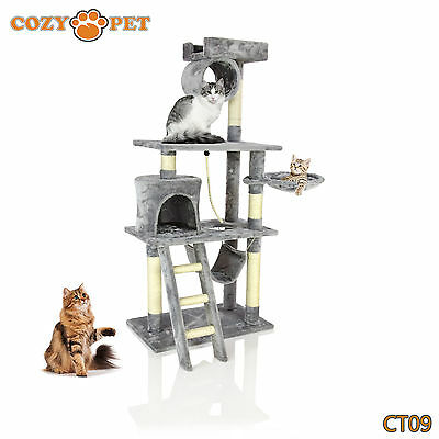 Cozy Pet Deluxe Cat Tree Sisal Scratching Post Quality Cat Trees - CT09-Grey