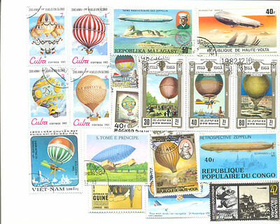 Balloons & Zeppelins-50 all different collection