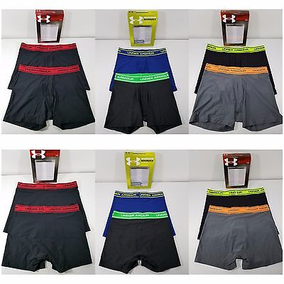 NIB Under Armour Boy's Youth Boxerjock 2-pack Multiple Solid Colors