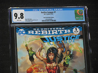 Justice League 1 CGC 9.8 NM/MT EBAS Variant HTF MOVIE
