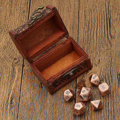 Warlock Tome with Antique Copper Color Solid Metal Role Playing Game Dice Set
