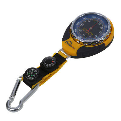 4in1 Compass Barometer Thermometer With Carabiner Camping Hiking I3D5