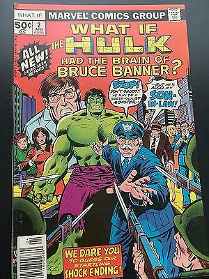 What if # 2 the Hulk had the Brain of Bruce Banner Marvel Comics  Bronze
