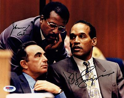 O.J. Simpson & Johnnie Cochran Signed 8x10 Photograph with PSA/DNA