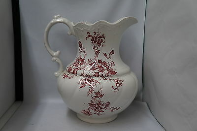 "Victorian Wash Water Pitcher F. Winkle & Co. ""Nancy"" Pattern 1890 Transferware"
