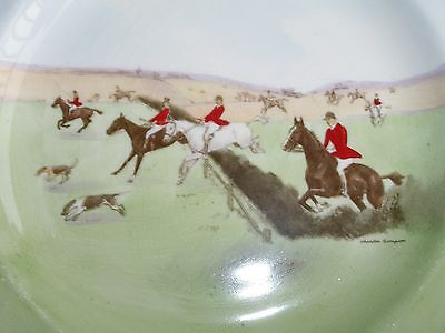 "Royal Doulton Charles Simpson Hunt Scene ""Over The Grass"" Dinner Plate 1942"