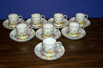 Set Of 8 Crown Staffordshire Demitasse Cups And Saucers Never Used Free Us Ship
