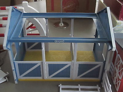 Breyer Country Stable Barn plus  horse related toys jumping bars pickup trailer