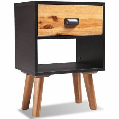 vidaXL Solid Acacia Wood Bedside Cabinet 40x30x58 cm Nightstand Table Chest✓