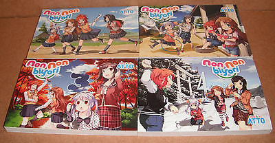 Non Non Biyori Vol. 1,2,3,4 Manga Graphic Novels Set English
