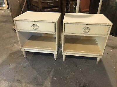 Drexel Nightstands With Ribbon Bow Pulls