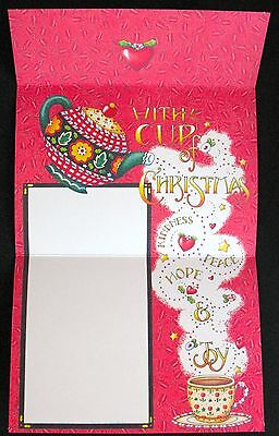 UNUSED 2001 Mary ENGELBREIT CHRISTMAS Greeting Note Card BE WARM INSIDE,self-env