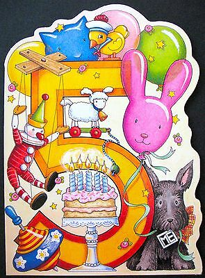 UNUSED 1997 Mary ENGELBREIT BIRTHDAY Card AGE 5, HENRY THE SCOTTIE, DIE-CUT,+env