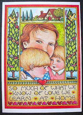 UNUSED 1988 Mary ENGELBREIT BIRTHDAY Greeting Card WHAT WE KNOW OF LOVE +env