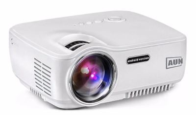 New 1400 Lumens Led Projector Set In Android 4.4 Wifi Bluetooth Support Miracast
