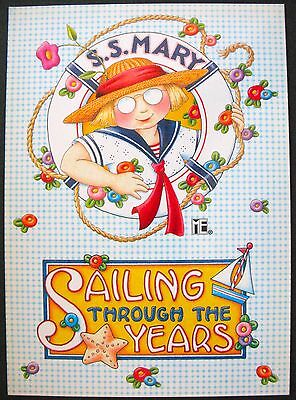 UNUSED 1999 Mary ENGELBREIT BIRTHDAY Card SAILING THROUGH THE YEARS +env