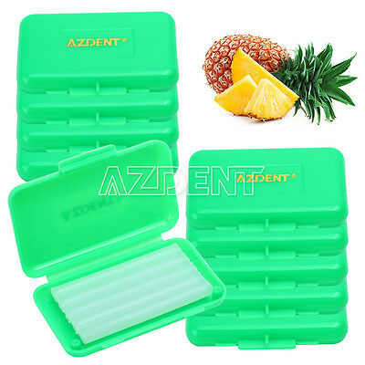 30 Boxes AZDENT Dental Orthodontic Wax Dark Pineapple Scent (10 Scent Optional)