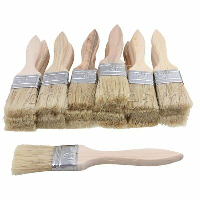 """20pieces 1.4"""" Paint Brush Chip Brushes Wood Shank for Wall Painting"""