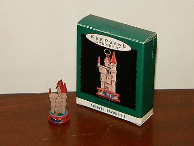 Christmas Castle 1993 MIB Hallmark Miniature Ornament Artists' Favorites