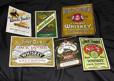 Vintage Jack Daniels labels (Reproduced 1984 by the distillery)