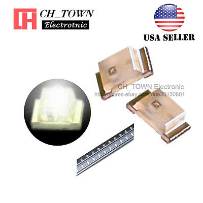 100PCS 0603 (1608) White Light SMD SMT LED Diodes Emitting Ultra Bright USA