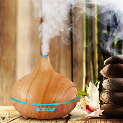 350ml Ultrasonic Humidifier Essential Oil Aroma Diffuser w/ Color Changing LED