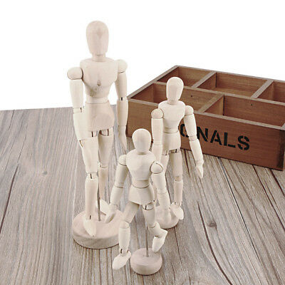 1X High Quality Wooden Movable Limbs Human Figure Model Artist Sketch Draw Model