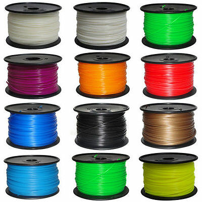 1Kg 3D Printer Filament PLA 1.75mm - Makerbot, Up, Leapfrog