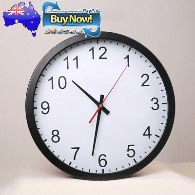 Premium Large Wall Clock Metal Kitchen School Classroom Without Ticks Silent New