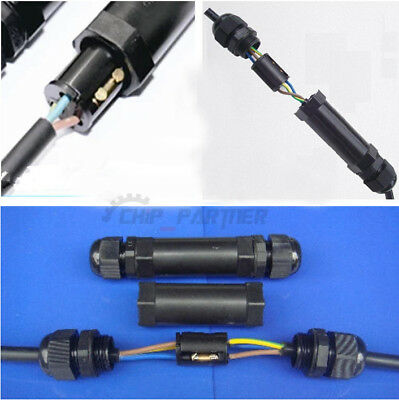 Waterproof IP68 Cable Connector 2/3/4 Pin Plug and Stocks AC 220V M20L/M20T kits