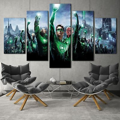 Green lantern movie 5PCS HD Canvas Print Home Decor Picture Wall Art Painting