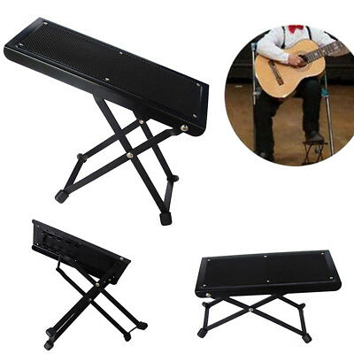 Guitar Foot Stool Black Folding Footstool Rest For Acoustic Classical Practice