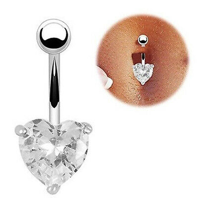 Navel Rings Belly Crystal Rhinestone Button Bar Heart Star Body Piercing Jewelry